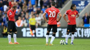 Falcao, van persie, rooney, Manchester United - Leicester