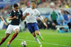 FOOTBALL : France vs Portugal (Varane-Ronald)